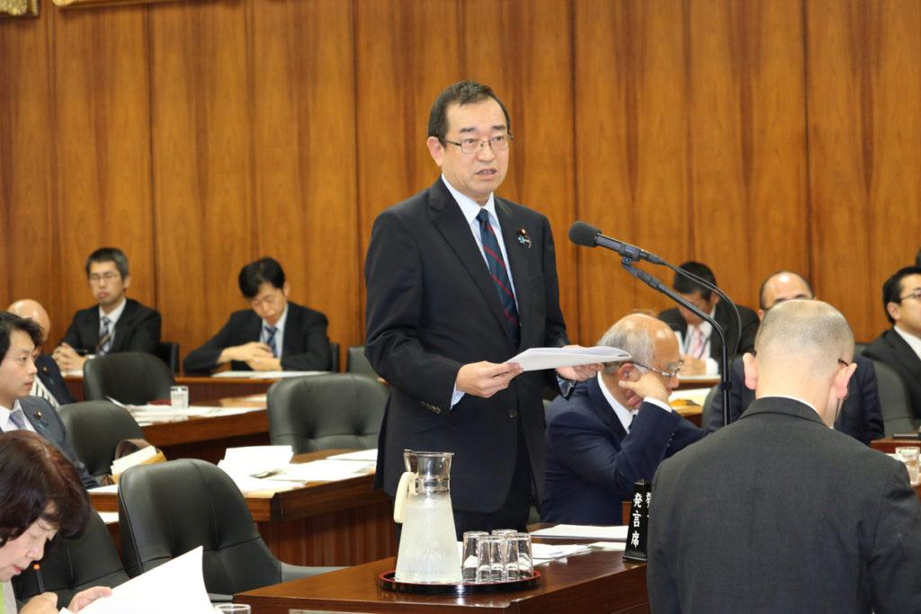 原子力問題調査特別委員会にて質問