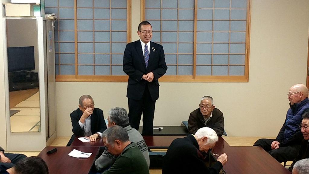後援会「安田友の会」へ国政報告